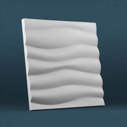 Гипсовые 3D панели Волна крупная рельефная