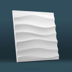 Гипсовые 3D панели Волна горизонтальная крупная
