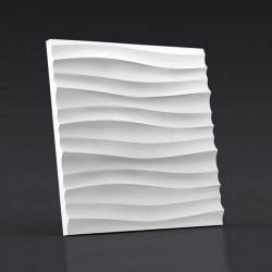 Гипсовые 3D панели Волна горизонтальная мелкая