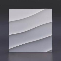 Гипсовые 3D панели Волна диагональная крупная