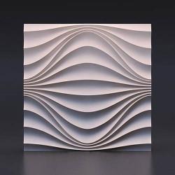 Гипсовые 3D панели Волна круговая