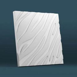 Гипсовые 3D панели Волна крупная рельефная диагональ