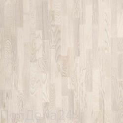 Паркетная доска PolarWood 3х-полосная Дуб Ливинг Белый Матовый Лак