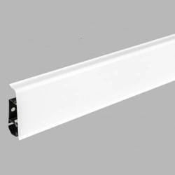Пластиковый плинтус Arbiton INDO 01 Белый блеск 2500 х 70 х 26