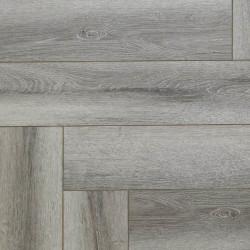 Замковая кварц-виниловая плитка FirmFit Herrigbone CW-1361 Дуб Серый