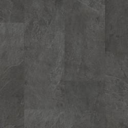 ПВХ плитка Quick Step коллекция Ambient glue plus (клеевая) AMGP40035 Сланец  чёрный